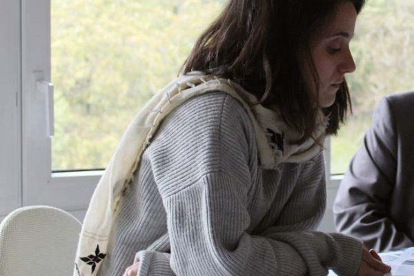 Nadia Arratibel, architetto, responsabile del rapporto tra i designer e la produzione dell'azienda spagnola di arredi e complementi Ondarreta
