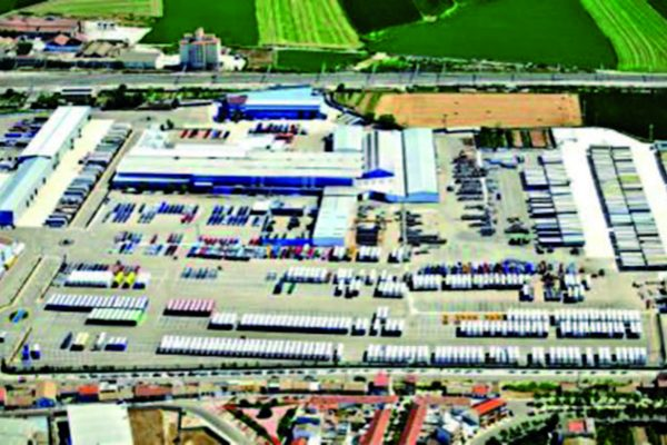 Vista aerea dello stabilimento della LeciTrailer visitato.
