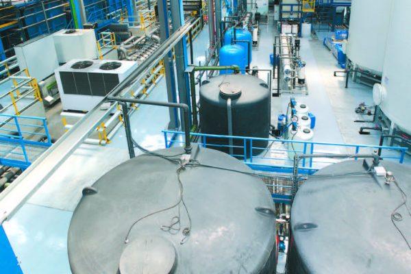 Una panoramica della zona tecnica dell'impianto