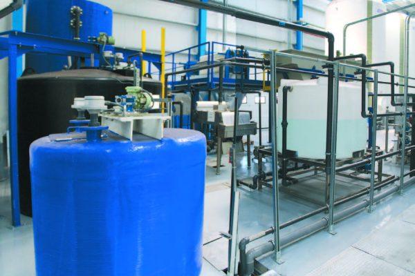 La centrale di trattamento chimico-fisico delle acque reflue.