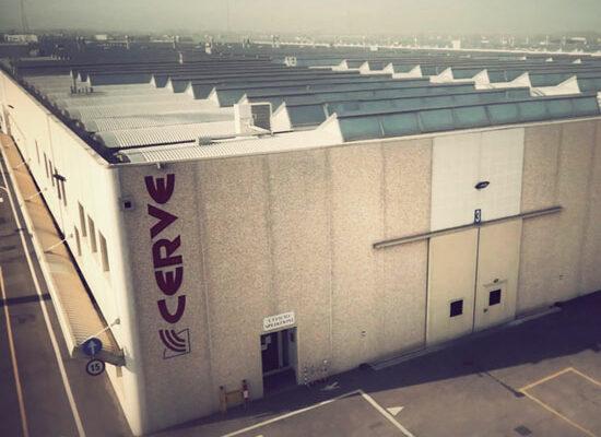 Lo stabilimento produttivo di Cerve in provincia di Parma.