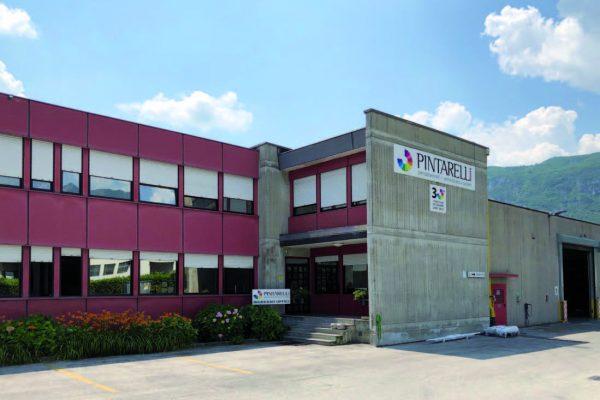 La sede di Pintarelli Verniciature a Lavis, in provincia di Trento.