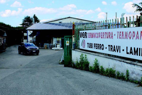 La sede dell'azienda Ver di Palestrina, in provincia di Roma