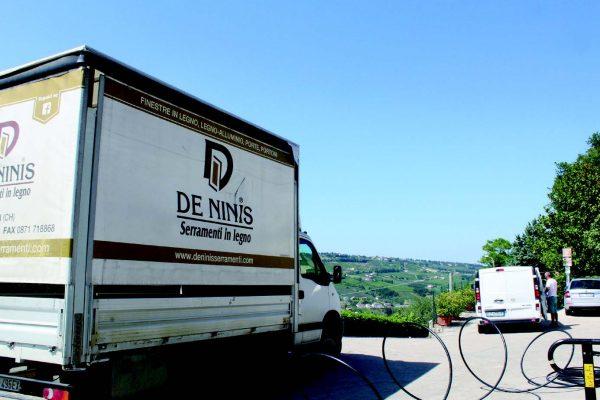 La sede della De Ninis Serramenti si trova tra le colline abruzzesi, a Vacri, in provincia di Chieti.