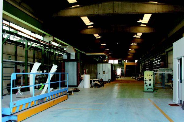 Una vista generale dell'impianto di Galgagnano, a liquido e in linea.