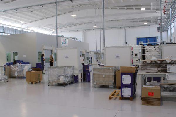 Vista generale del reparto produttivo dell'azienda.