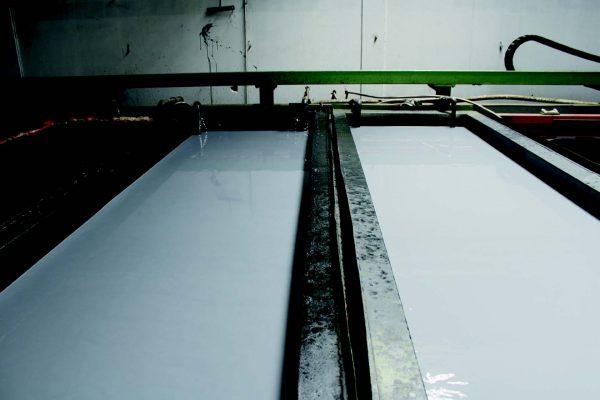 Le due vasche dedicate all'Organic Dip Coat di cui una utilizzata soltanto per il risciacquo