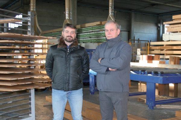 Da sinistra Andrea Amidani, direttore generale dell'azienda, con Enrico Bacchini, responsabile commerciale di HDG