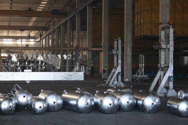 La nuova grande zincatura a caldo, inaugurata nel 2010 in sostituzione di quella, più piccola, del 1991.