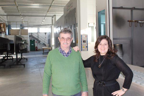 Elena Pegoraro gestisce la verniciatura conto terzi 3P Verniciature di S. Maria di Sala (VE) con il papà Franco, il tecnico dell'azienda, che l'ha fondata negli anni '70.