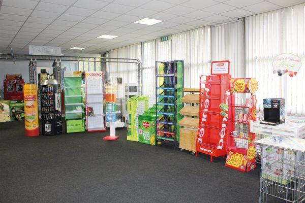 Espositori prodotti da Target per la grande distribuzione.