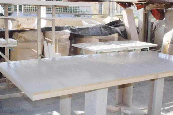 La zona dedicata alla verniciatura dei manufatti realizzati dall'azienda.