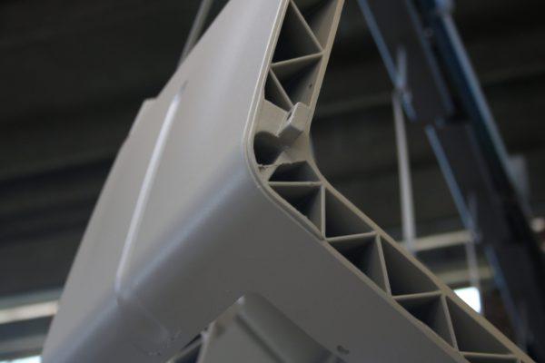 Il sistema di spruzzatura in fase densa ha migliorato anche l'aspetto estetico della finitura.
