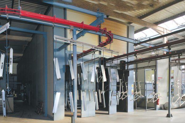 L'impianto, progettato e prodotto dall'italiana Omsa, durante la nostra visita.