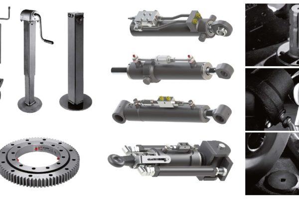 Dettagli di alcuni dei componenti per macchine industriali prodotti da Rima.