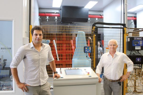 Da sinistra Marco Morlacchi, tecnico commerciale di Lesta, con Romeo Faganelli, uno dei soci nonché legale rappresentante di Rima.
