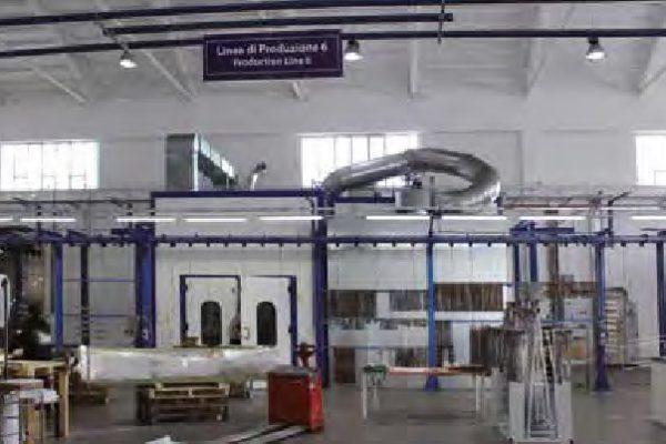 L'impianto di verniciatura all'acqua