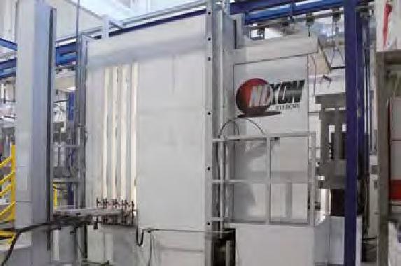 L'innovativa cabina di spruzzatura a polveri con aspirazione dell'overspray dalle pareti laterali.