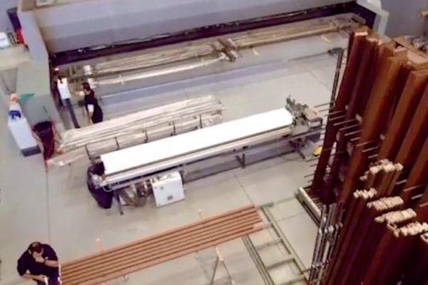 """L'impianto di decorazione """"effetto legno"""" visto dall'alto"""