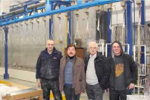 Austoni e Sergio De Venezia, con due collaboratori