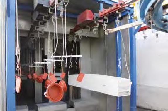 Forni di asciugatura del pretrattamento nanotecnologico e di cottura smalti all'acqua