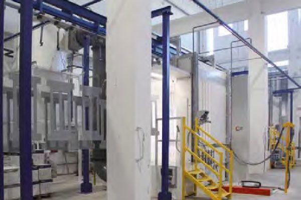 La cabina del secondo impianto a polveri.