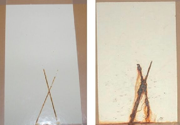Confronto tra gli stessi due campioni, trattati successivamente con un analogo intermedio tradizionale.