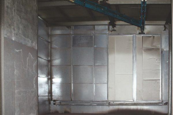 Dettaglio del forno di asciugatura del pretrattamento