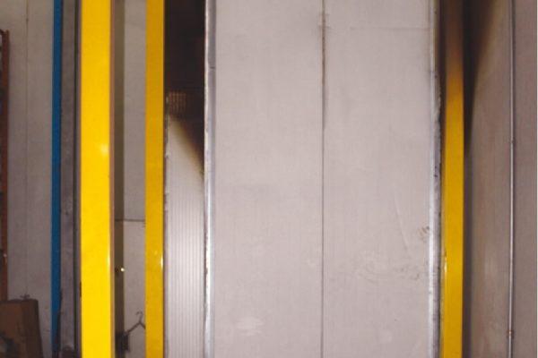 Dettaglio del forno di polimerizzazione