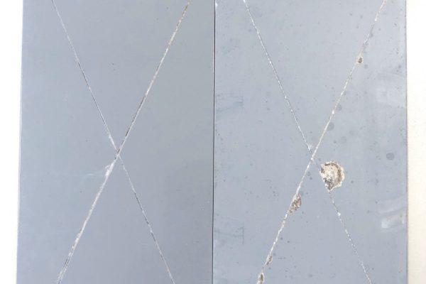 Il confronto diretto campione A – zinc-free e campione D – zincante tradizionale.
