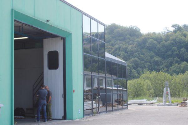 Lo stabilimento dell'azienda Ecover di Sassocorvaro, in provincia di Pesaro Urbino