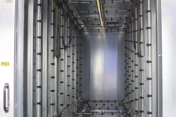 Il tunnel di pretrattamento con Toran 3, effettuato attraverso rampe mobili .