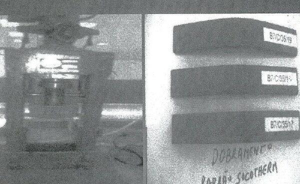 Piegatura al mandrino conico di film contenenti cariche nanometriche di piccoli e grandi spessori (dall'alto: 57, 173 e 356 micron).
