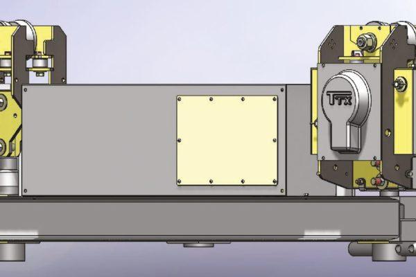 Dettaglio schematico del motore e della batteria della barra