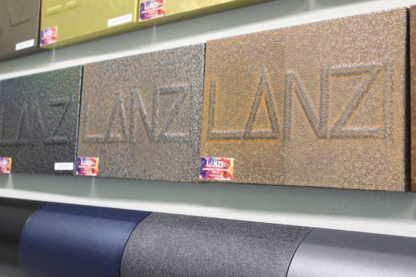 Alcuni trattamenti effetto Corten effettuati da Lanzi, azienda di lavorazioni conto terzi di granigliatura e verniciatura, sia a liquido che a polveri, con sede a Agliano Terme in provincia di Asti.