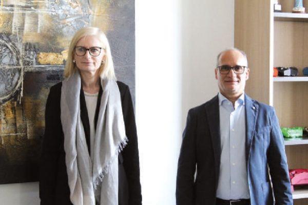Giovanni Tulipano e Marzia Manenti, i soci titolari di Brinver, azienda con sede a Brignano Gera D'Adda (BG).