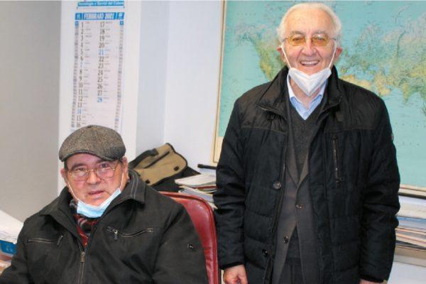 Paolo Manocchi insieme al nostro direttore, Danilo O. Malavolti nella sede di VerInd Car a Mondolfo, PU).