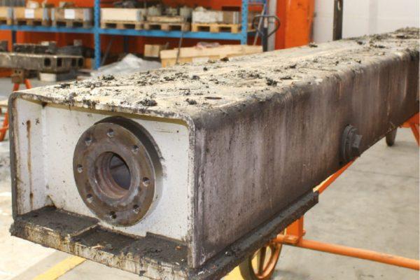 In fase di smontaggio è evidente l'usura dei componenti dell'impianto.
