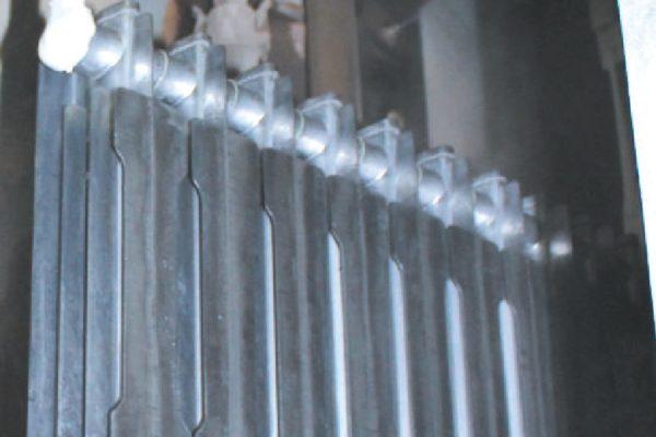 Una delle due rampe di nebulizzazione della soluzione nanotecnologica